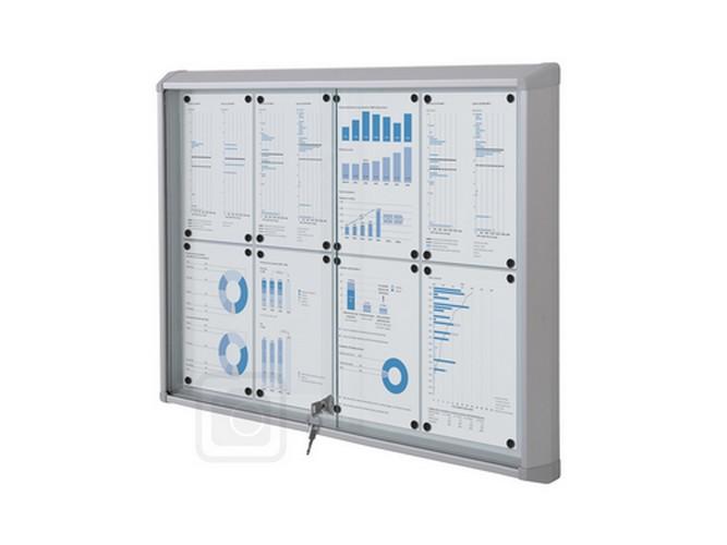structure aluminium renforcée porte plexiglass