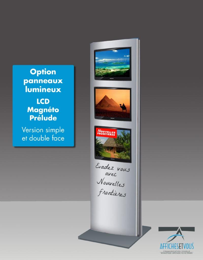 possibilité d'intégrer au totem BRAZILLA des écrans leds et LCD, nous consulter selon option à défin